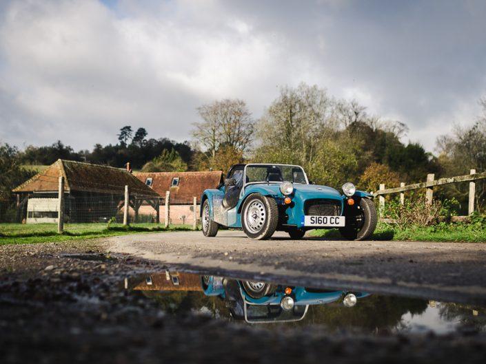 Classic car Caterham Seven 160 in the Surrey Hills near London UK GB