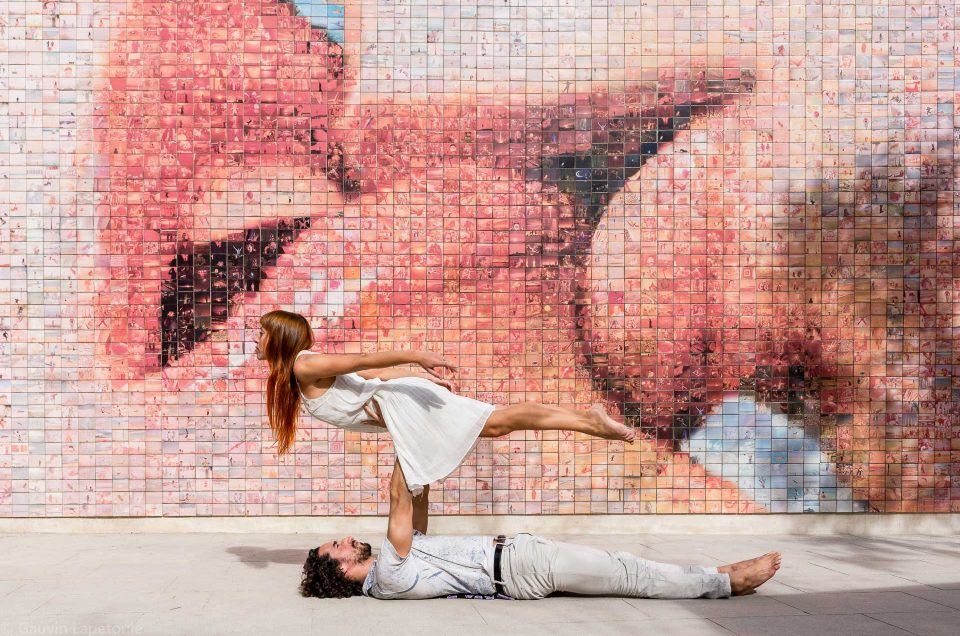 Yoga in Barcelona: mixing body art and photography