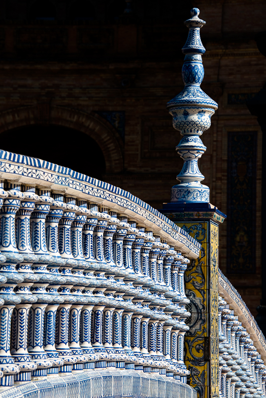 Details of the Plaza España in Sevilla, Andalusia, Spain - architecture