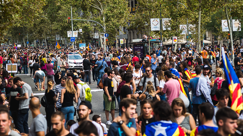 Blog - The independence challenge - strike 3rd october - Barcelona - Catalonia - Spain