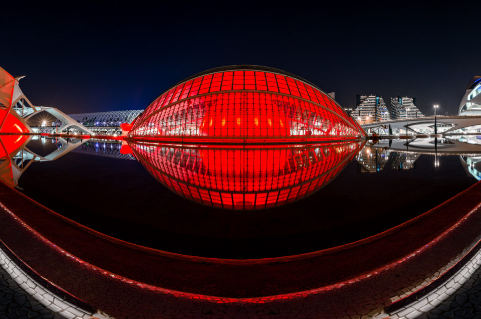 Monumental structure: City of Arts and Sciences of Valencia