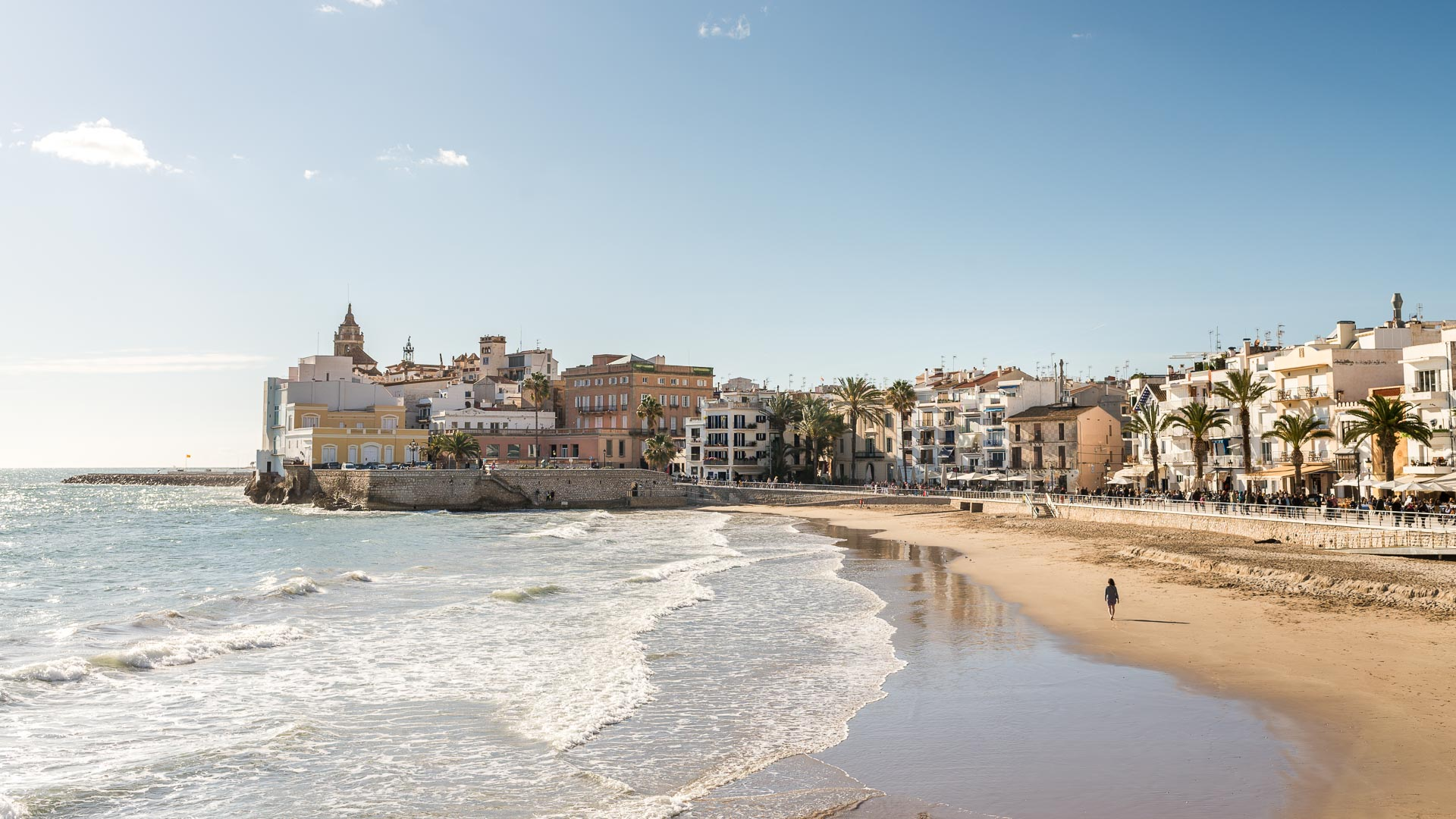 sea view of barcelona, sitges
